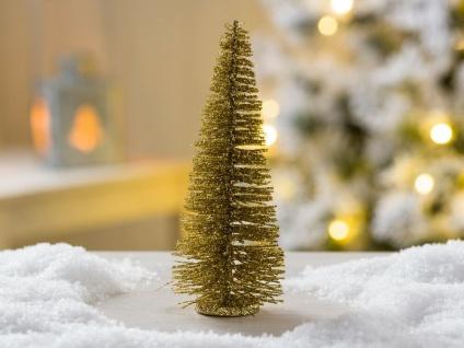 Deko Weihnachtsbaum gold 15 cm Weihnachten Tannenbaum Deko Objekt
