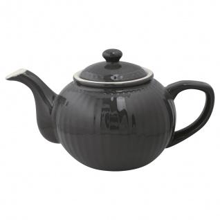 Greengate Teekanne ALICE Grau Kanne 1 Liter Everyday Geschirr Teapot DARK GREY