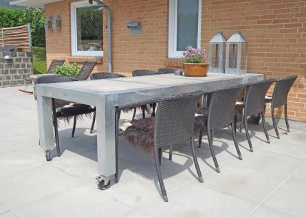 A2 Living Allwetter Gartentisch 4er Pro 10 verzinkt 298 cm Metall Rostfrei