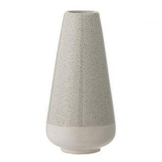 Bloomingville Vase grau creme Blumenvase Keramik 16.5 cm hoch