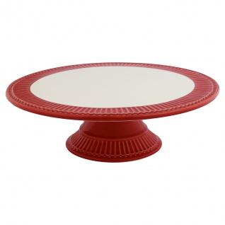 Greengate Tortenplatte ALICE Rot Servierplatte Everyday Geschirr RED