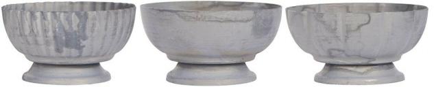 IB Laursen Teelichthalter Zink Optik. 3er Set. Kerzenhalter. Kerzenständer Teeli