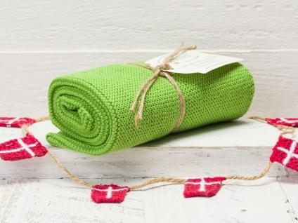 Solwang Küchentuch GRASGRÜN gestrickt Putztuch Geschirrtuch Handtuch Gästetuch