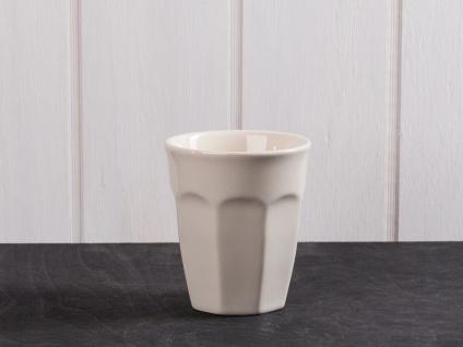 IB Laursen MYNTE Cafe Latte Becher Beige Keramik Geschirr LATTE Tasse 250 ml