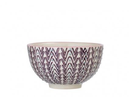 Bloomingville Schale MAYA Keramik Schüssel 350ml Geschirr Müslischale Design rot