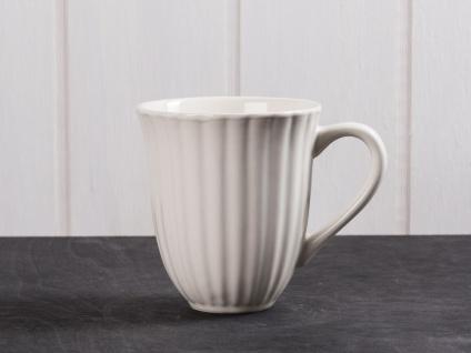 IB Laursen MYNTE Becher Rillen Creme Weiß BUTTER CREAM Keramik Tasse 250 ml