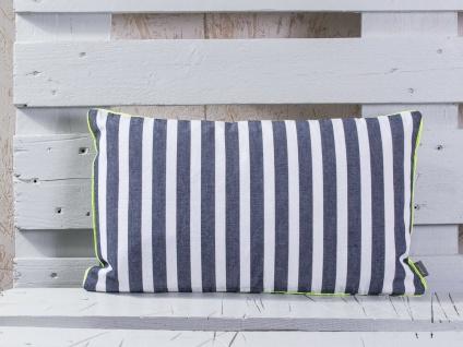 Pad Kissen CHETTO Streifen blau weiß gestreift Maritim Kissenhülle 30x50 Concept