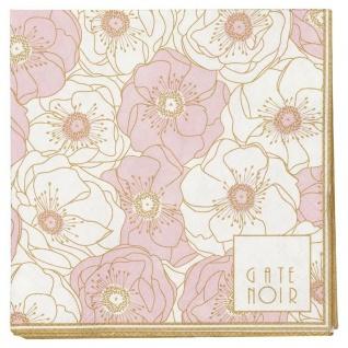 Gate Noir GreenGate Servietten FLORI PALE PINK Klein rosa Blumen 12.5 x 12.5 cm