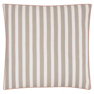 Pad Sitzkissen CHETTO Streifen beige weiß gestreift taupe Kissenhülle Pad Concep - Vorschau 5