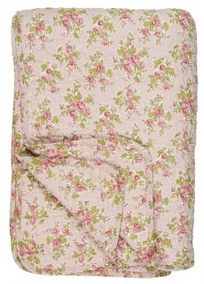 IB Laursen QUILT Rosa ROSEN Rot Decke Tagesdecke Bettüberwurf 130x180 cm