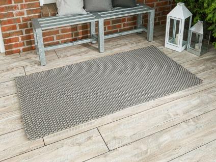 Pad In / Outdoor Matte POOL Grau Beige 92x172 Fussmatte Badezimmermatte Teppich