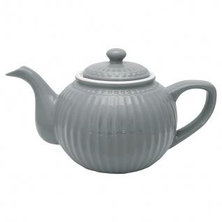 Greengate Teekanne ALICE Grau Kanne 1 Liter Everyday Geschirr Teapot STONE GREY