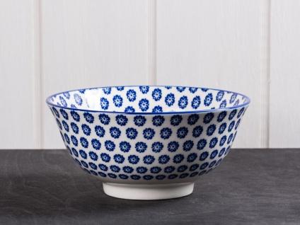 IB Laursen Schale LIVA groß blau weiß Blumen Geschirr Müslischale Obst Schüssel
