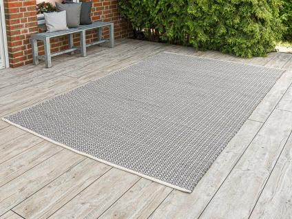 Pad Outdoor Matte AKZENT 200x300 Grau Beige Pad Condept XL Teppich 2x3 Meter