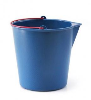 Xala Drop Eimer 13 Liter blau roter Henkel Ausgießer Kunststoff Design Wassereim