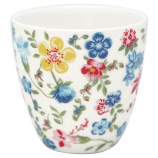 Greengate MINI Latte Cup SOPHIA Weiss mit bunten Blumen Espresso Tasse 130 ml
