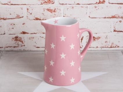 Krasilnikoff Krug BRIGHTEST STAR Rosa Kanne pink Sterne weiß Karaffe 1.25 L