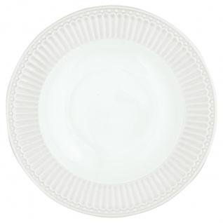 Greengate Tiefer Teller ALICE Weiß Suppenteller Everyday Geschirr Pastateller