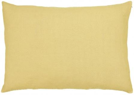 IB Laursen Kissenhülle Leinen Lemon Drop Gelb Kissen 50x70 Kissenbezug
