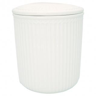 Greengate Vorratsdose mit Deckel ALICE WEISS Medium 13x15 cm Keramik Geschirr