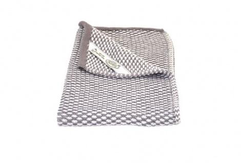 Solwang Gästehandtuch Natur / Warm Grau gestrickt Handtuch Bio Baumwolle 32x47