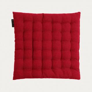 Linum Sitzkissen PEPPER ROT 40x40x3 cm Stuhlkissen mit Füllung Baumwolle Kissen