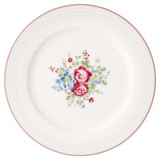 Greengate Essteller HENRIETTA Weiß 26 cm Porzellan Teller Geschirr Blumen