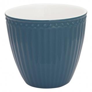 Greengate Latte Cup Becher ALICE Blau Everyday Geschirr OCEAN BLUE 300 ml
