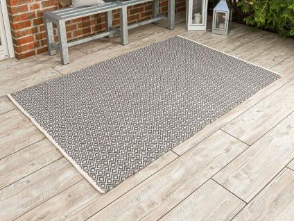 Pad Outdoor Matte AKZENT 140x200 Grau Beige Teppich Terrasse Concept 1.4 x 2 M