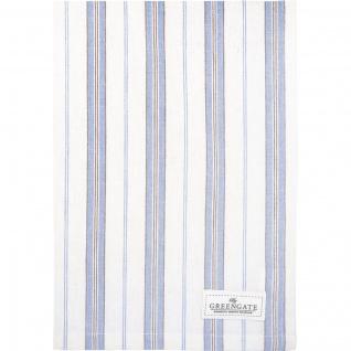 Greengate Geschirrtuch NICOLA Blau Weiß Streifen Baumwolle 50x70 Küchentuch