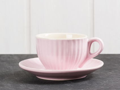 IB Laursen Espresso Tasse MYNTE Rosa m Untertasse Keramik Geschirr English Rose