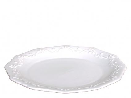 Chic Antique Kuchenteller PROVENCE Porzellan Geschirr Weiß 19 cm Dessertteller