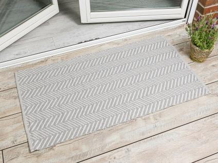 PAD Outdoor Matte HARRY HELLGRAU 72x132 Fussmatte Teppich Concept Badematte Grau