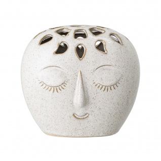 Bloomingville Vase FACE Creme Weiß Oval mit Gesicht 14.5 cm Keramik Blumenvase