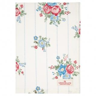 Greengate Geschirrtuch HENRIETTA Weiß Blumen Baumwolle 50x70 Küchentuch