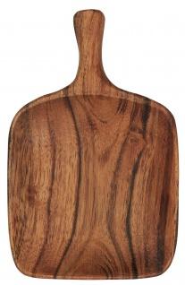 IB Laursen Tapas Schale Akazie 12x8 cm Holz Servierschale mit Griff Akazienholz