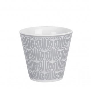 Krasilnikoff Espresso Tasse BLOSSOM Hellgrau Becher 80 ml Porzellan Geschirr