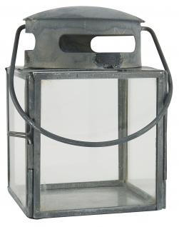 IB Laursen Laterne Metall Grau Windlicht 11 cm Gartenlaterne Teelichthalter