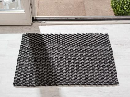 Pad In / Outdoor Matte POOL grau schwarz 52x72 Fussmatte Badezimmermatte Teppich