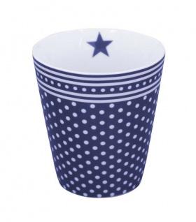 Krasilnikoff Happy Mug Becher MICRO DOTS Blau Punkte Kaffeebecher Tasse