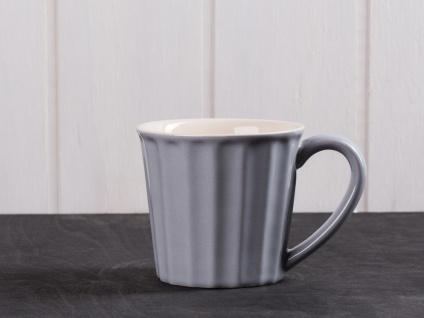 IB Laursen MYNTE Becher Grau FRENCH GREY Tasse Keramik 250 ml Kaffeetasse