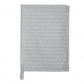 Krasilnikoff Geschirrtuch BLOSSOM Hellgrau Baumwolle 50x70 cm Geschirrhandtuch