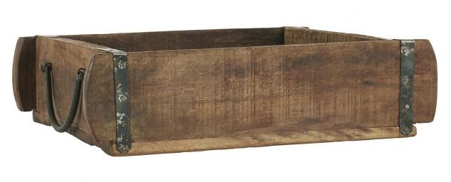 IB Laursen Ziegelform KISTE mit Henkeln Holz UNIKA 25x30 Unikat Holzkiste Unikat