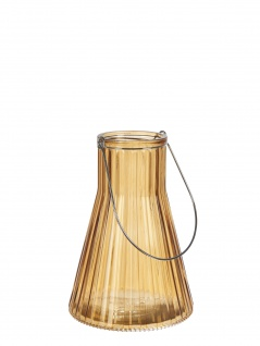 Affari Windlicht Laterne ANJA Orange 24 cm Glas Deko Gartenlaterne Tischdeko