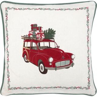 Greengate Kissen CHARLINE Auto 40x40 Kissenhülle Kissenbezug Blumen Baumwolle