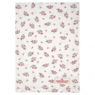 Greengate Geschirrtuch AVERY Weiß mit Blumen Baumwolle 50x70 cm Küchentuch