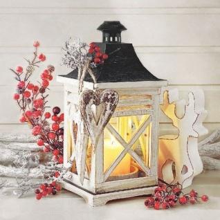 Ambiente Servietten LANTERN Laterne Kerze Beeren Rot Rentier Weihnachten 20 Stk