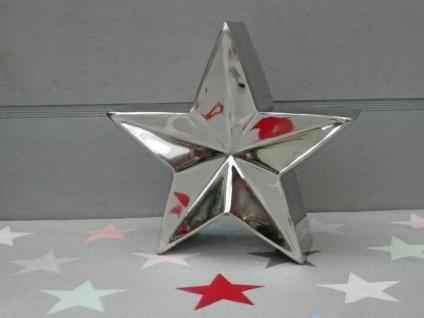 Deko Stern Claire. 15 cm. 3D Deko Objekt Stern. Edelstahl Sterne