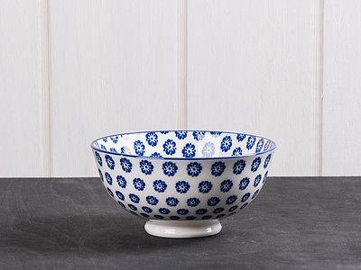 IB Laursen Schale LIVA klein blau weiß Blumen Geschirr Müslischale Obst Schüssel