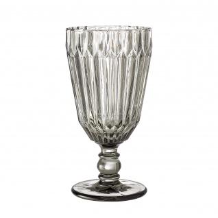 Bloomingville Weinglas grau Trinkglas Saftglas 210 ml 16 cm schwere Ausführung